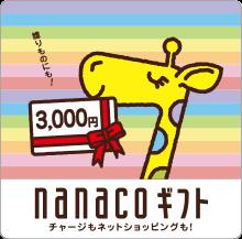 nanacoギフトカード3,000円